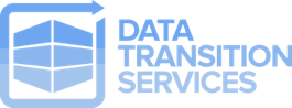 logo data transition services blue dts middle